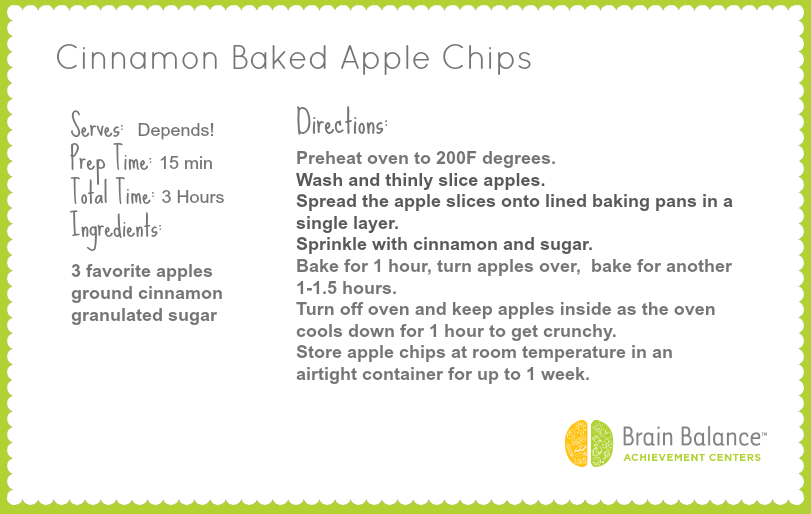 Apple Chips | Brain Balance Healthy Recipe