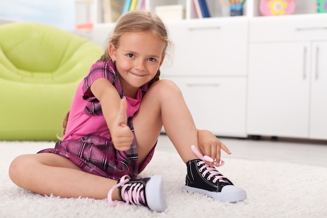 Teaching Childhood Independence | Learning to Tie Shoes